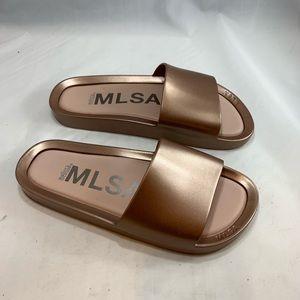 Melissa Rose Gold Beach Slides Sandals